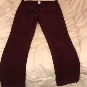 J. Crew maroon chords. Very comfy fit.
